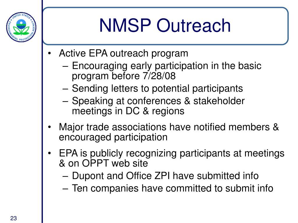 NMSP Outreach