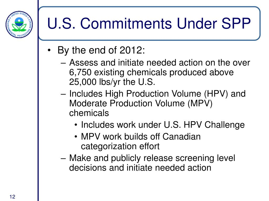 U.S. Commitments Under SPP