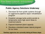 public agency solutions underway