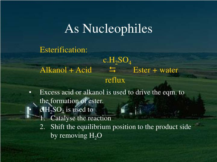 As Nucleophiles
