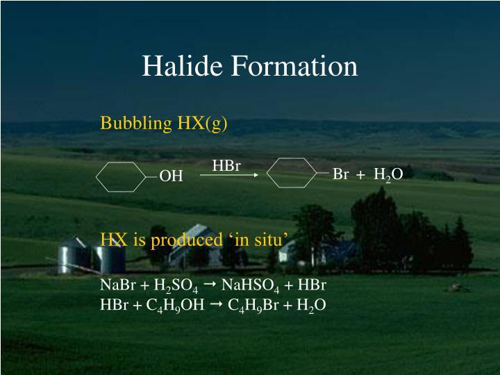 Bubbling HX(g)