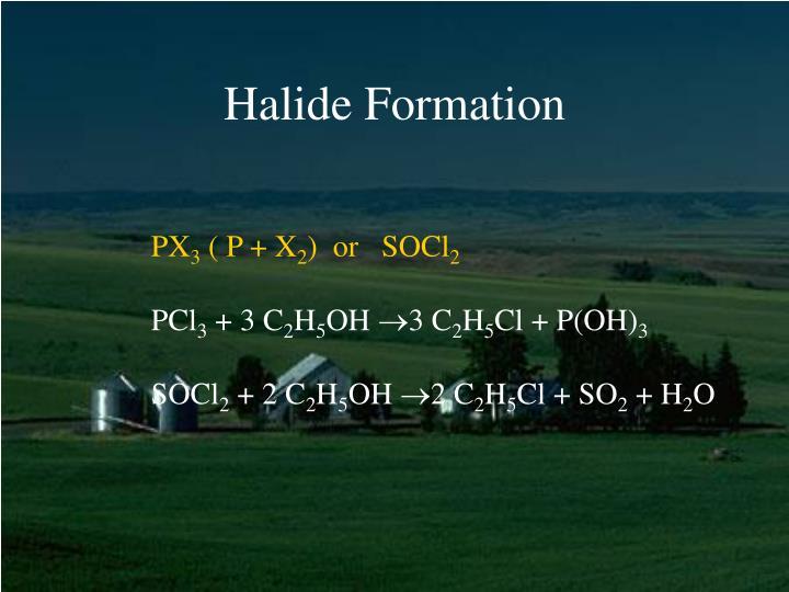 Halide Formation