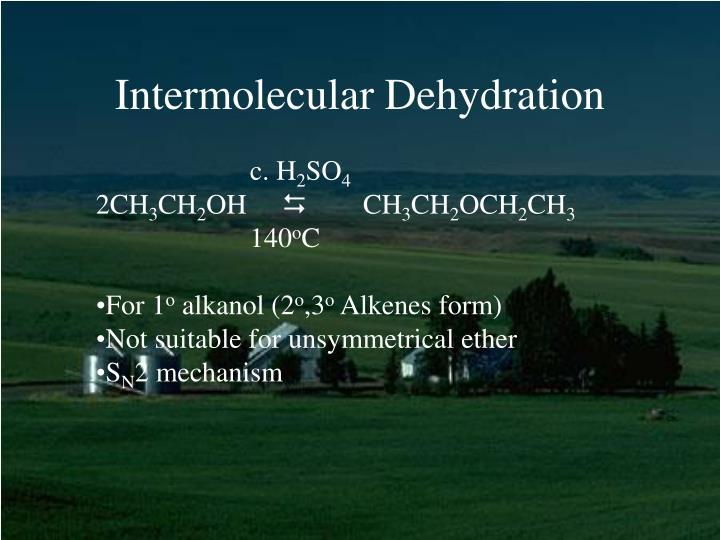 Intermolecular Dehydration
