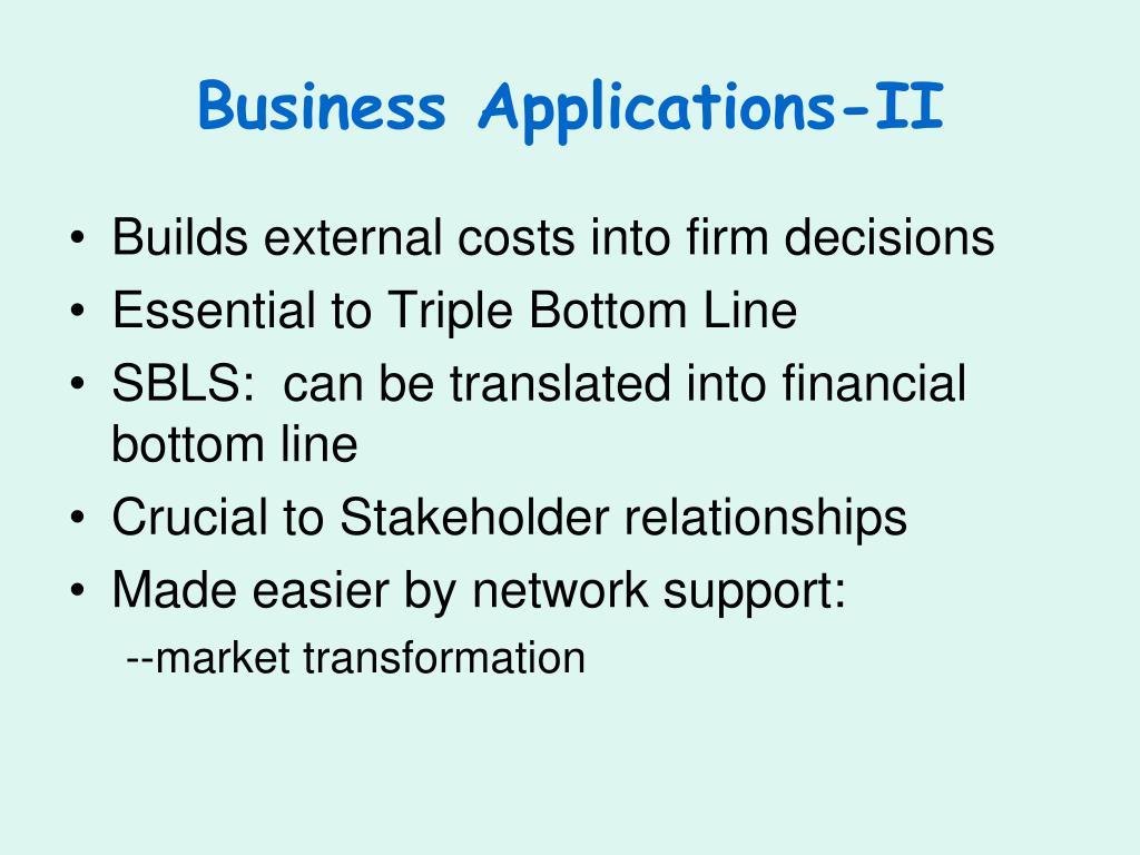 Business Applications-II