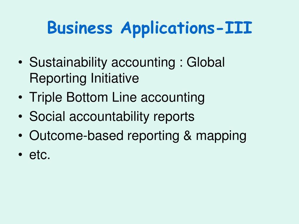 Business Applications-III