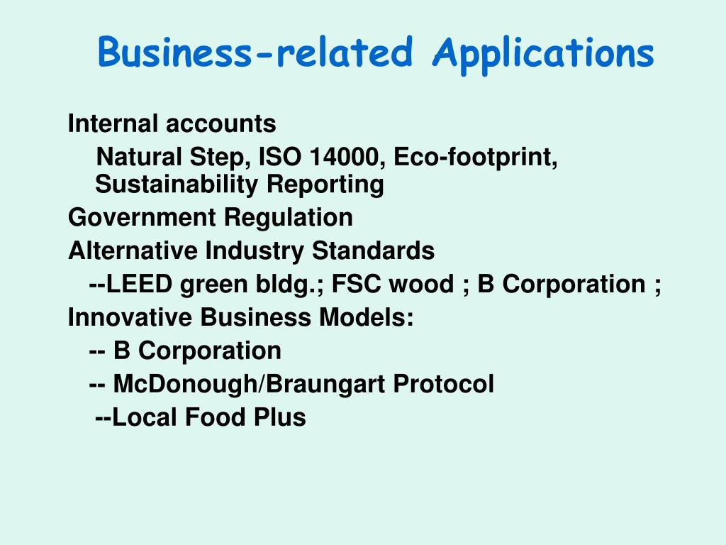 Business-related Applications