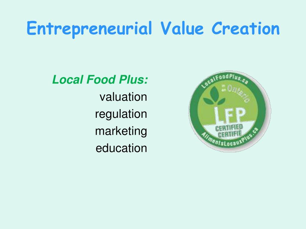 Entrepreneurial Value Creation