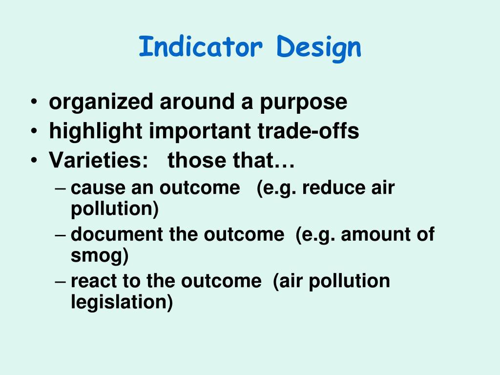 Indicator Design