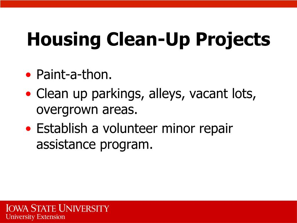 Housing Clean-Up Projects
