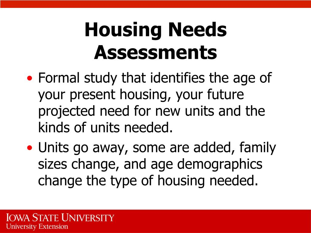 Housing Needs Assessments