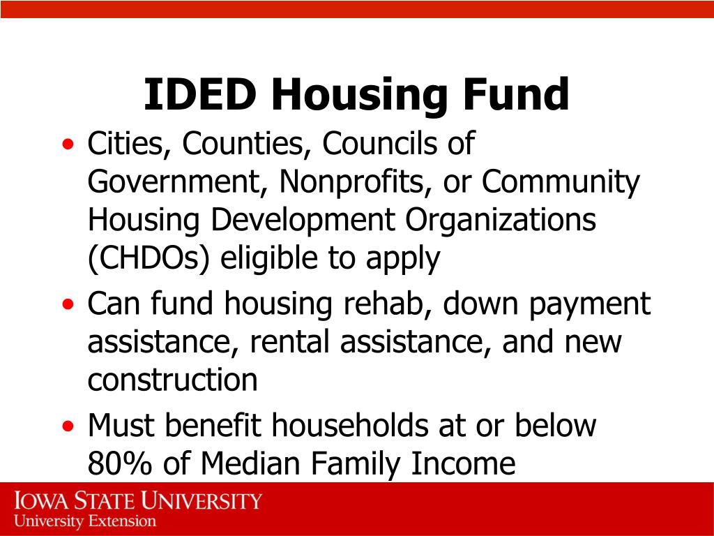IDED Housing Fund