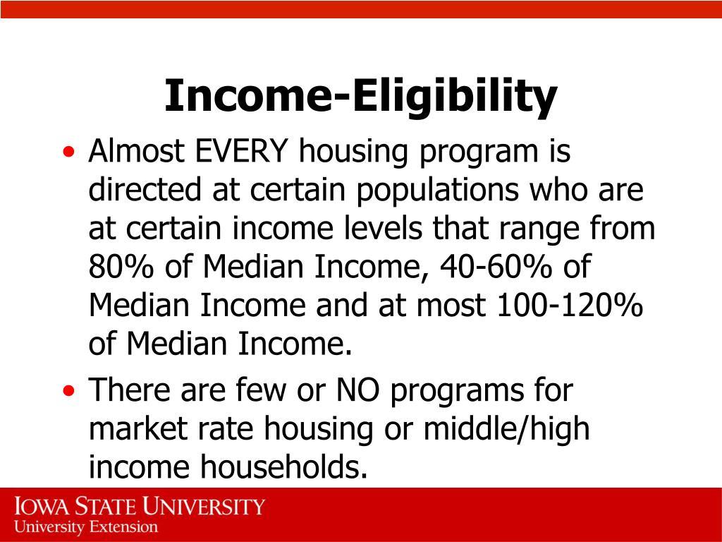 Income-Eligibility