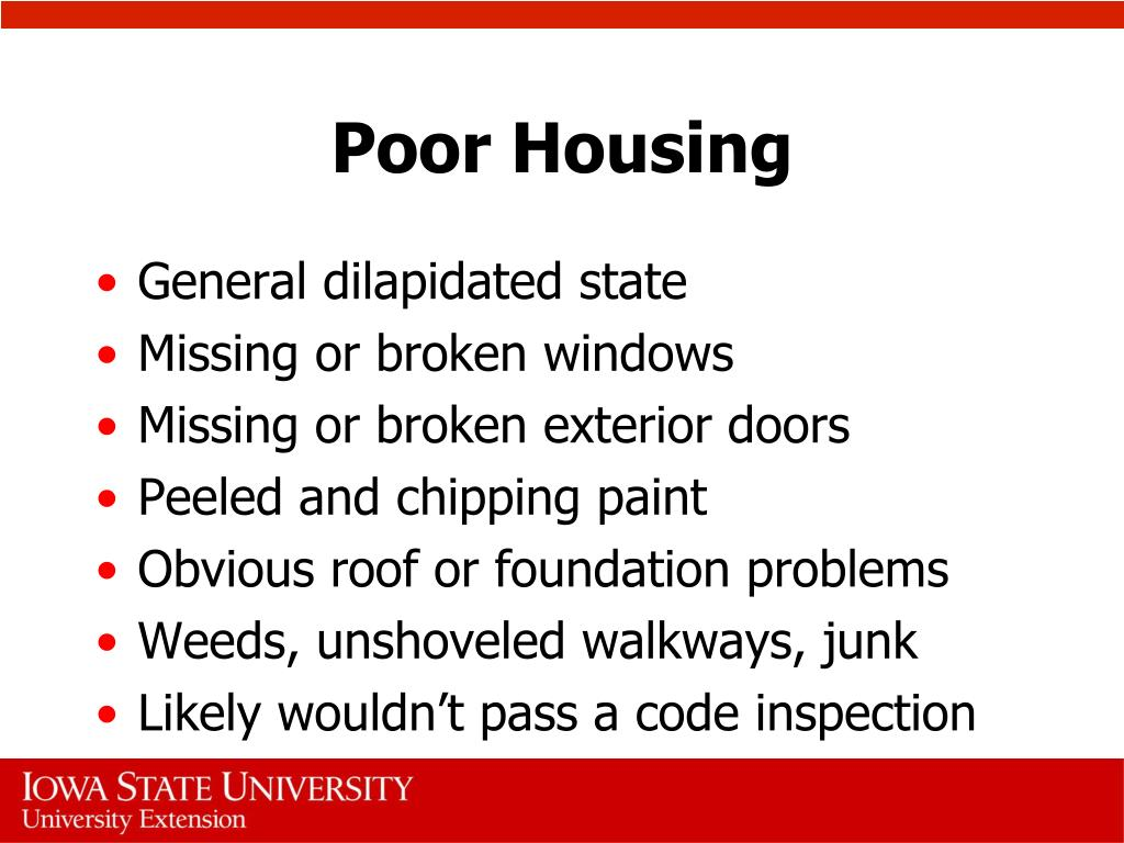Poor Housing