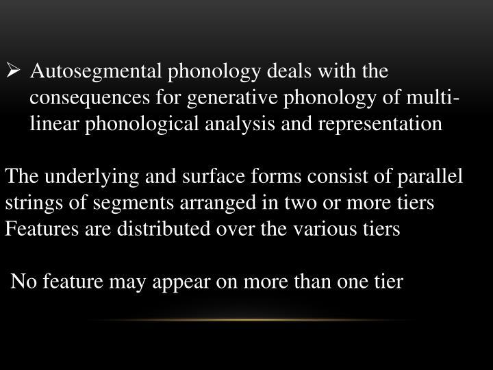 autosegmental analysis Segmentation ingredients analysis derivations autosegmental phonology: root-and-pattern morphology jochen trommer jtrommer@uni-leipzigde university of leipzig.