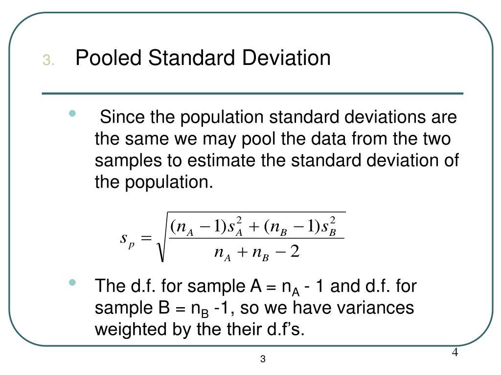Pooled Standard Deviation