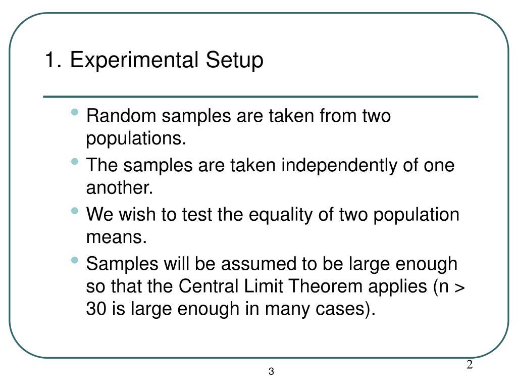 1. Experimental Setup