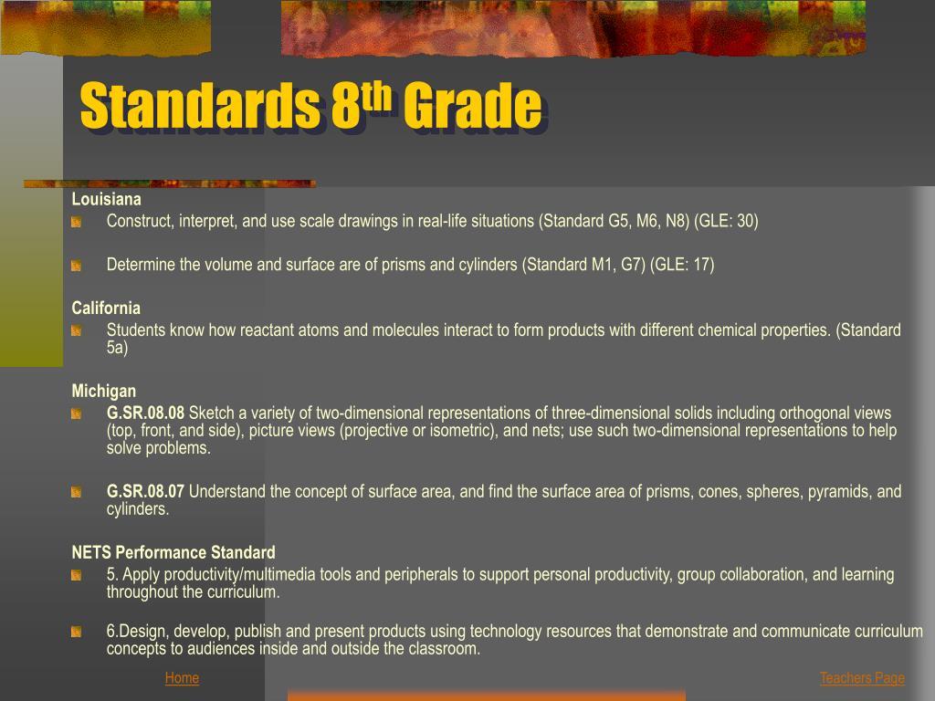 Standards 8