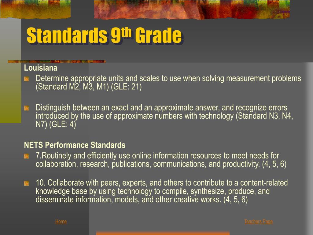 Standards 9