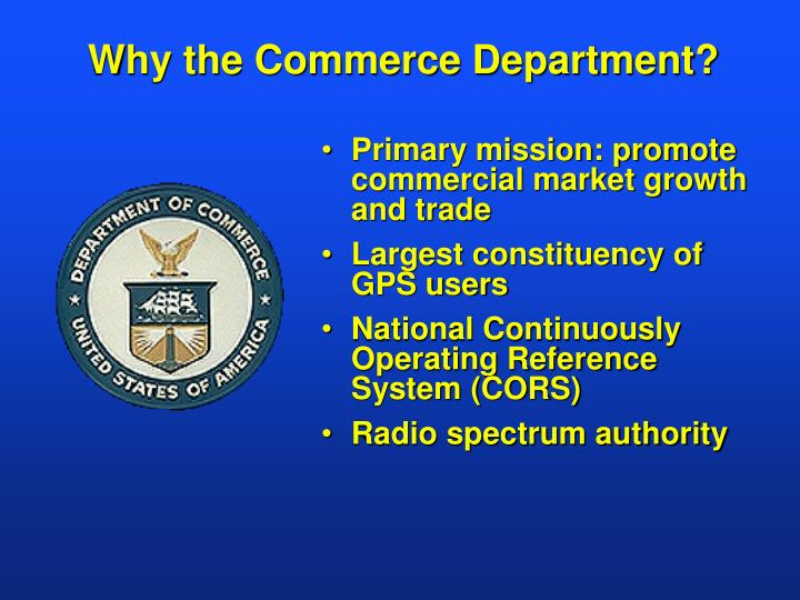 Why the Commerce Department?