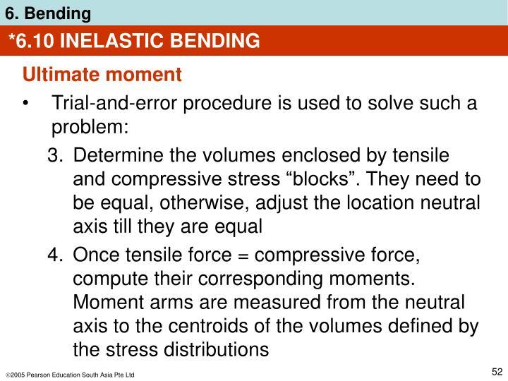 *6.10 INELASTIC BENDING