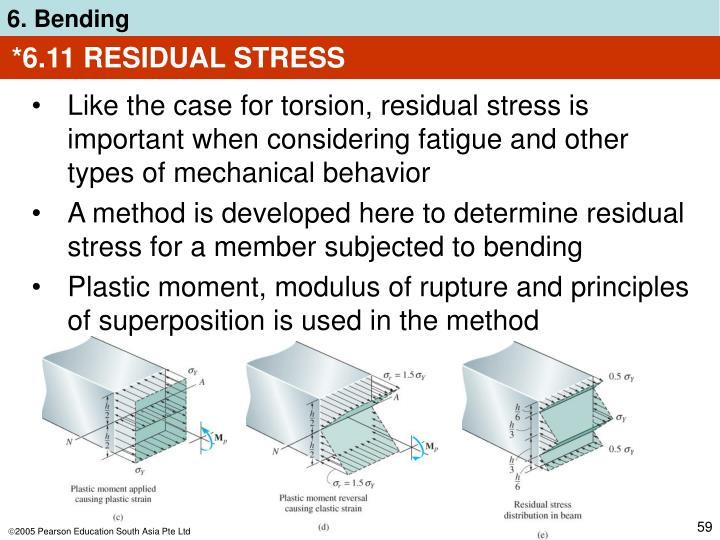 *6.11 RESIDUAL STRESS