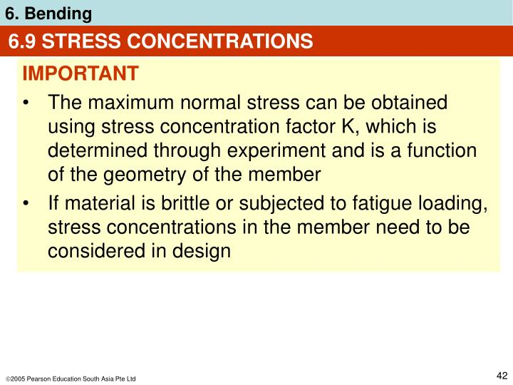 6.9 STRESS CONCENTRATIONS