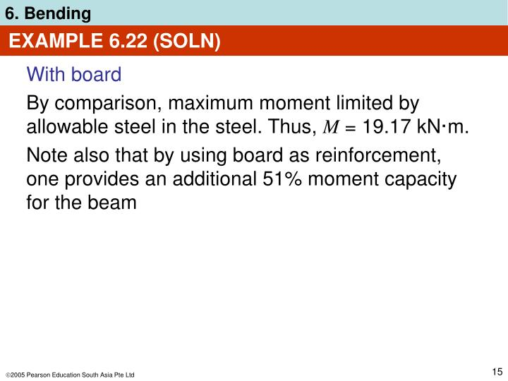 EXAMPLE 6.22 (SOLN)