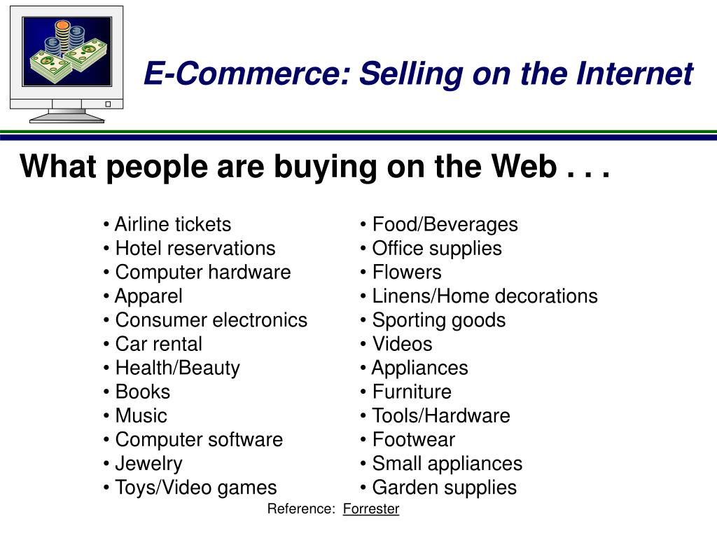 What people are buying on the Web . . .