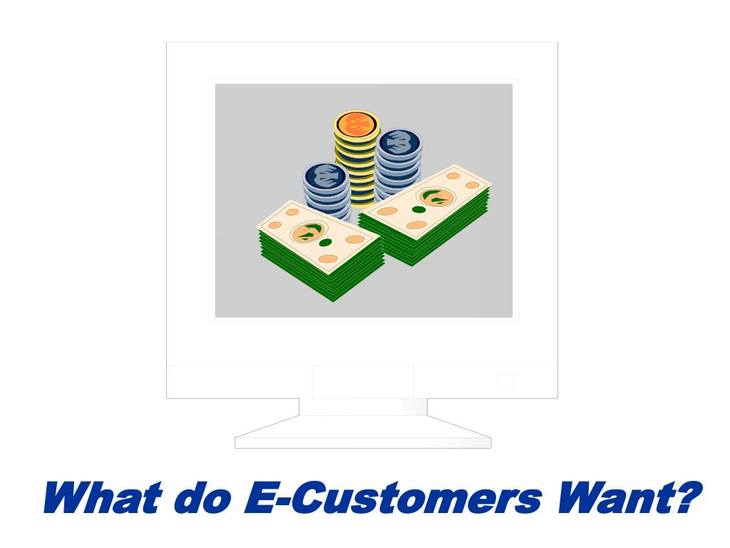 What do E-Customers Want?