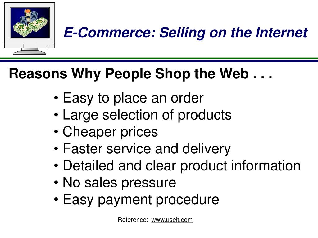 Reasons Why People Shop the Web . . .