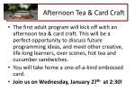 afternoon tea card craft