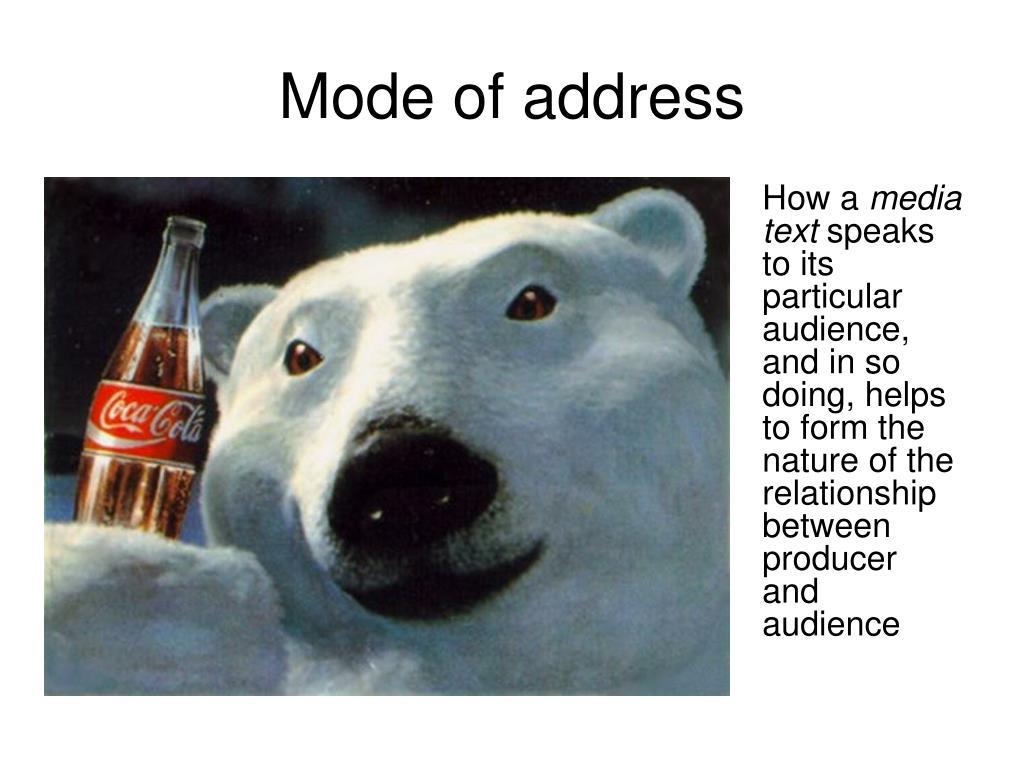 Mode of address