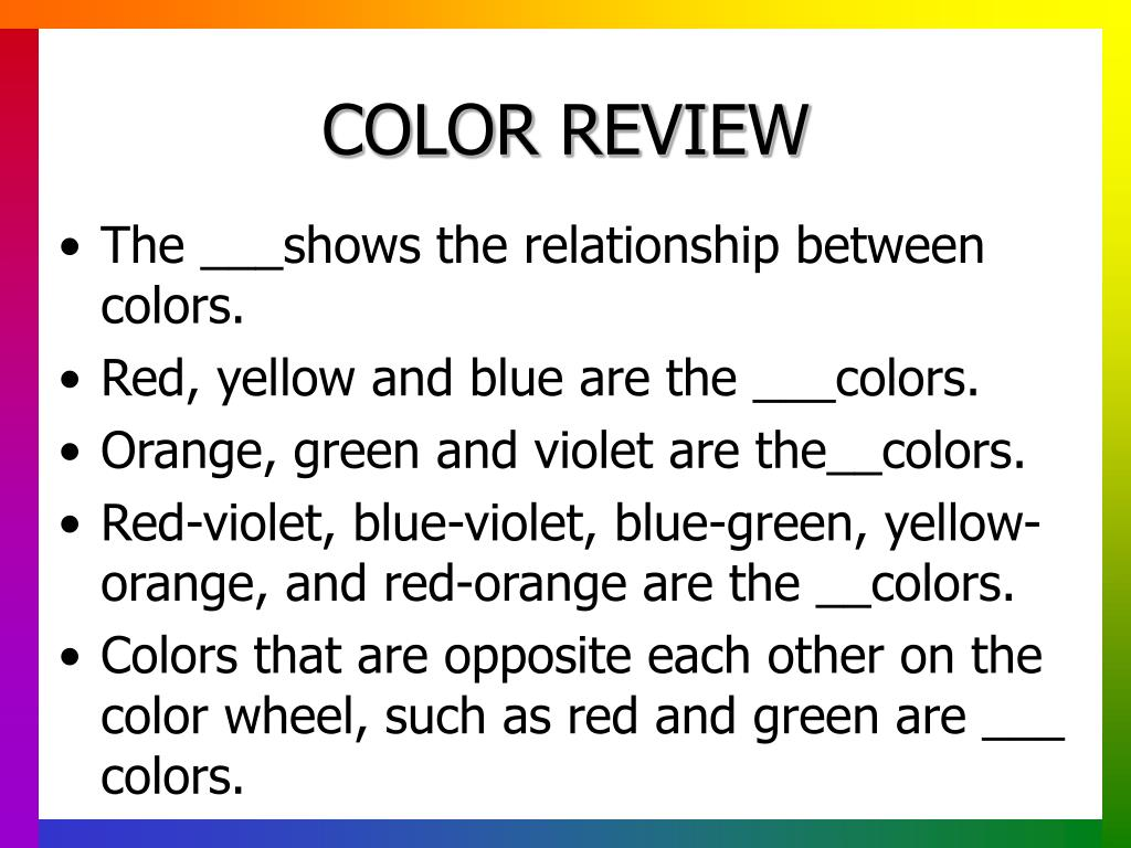 COLOR REVIEW