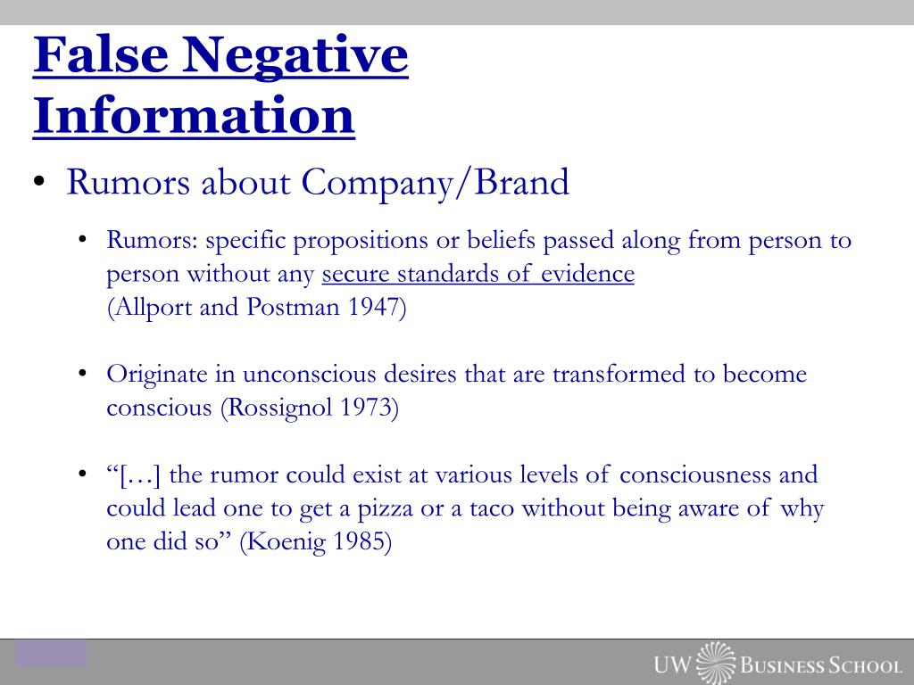 False Negative Information