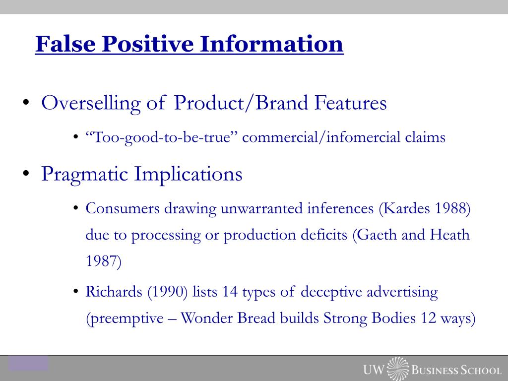 False Positive Information