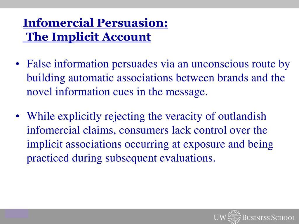 Infomercial Persuasion:
