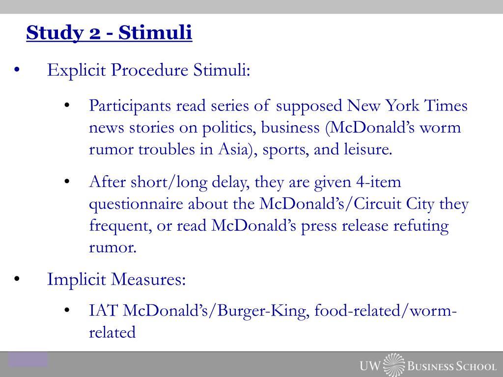 Study 2 - Stimuli