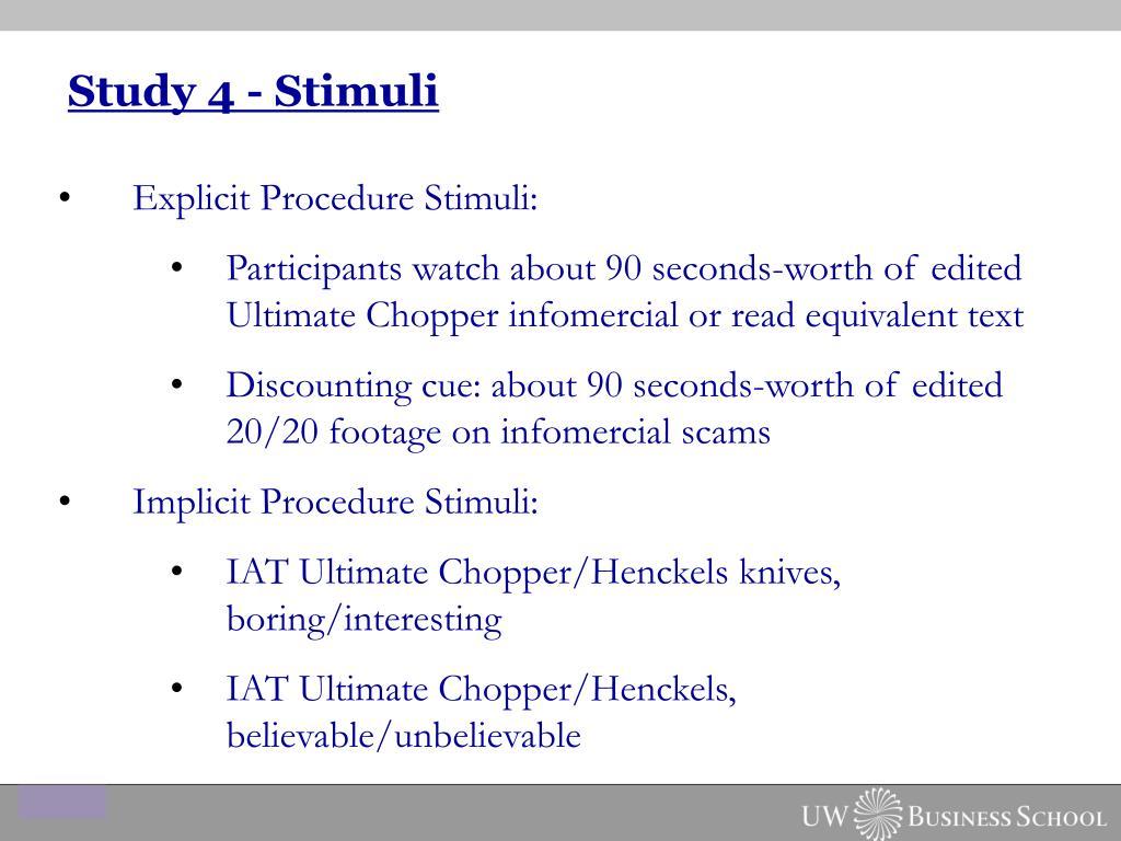 Study 4 - Stimuli