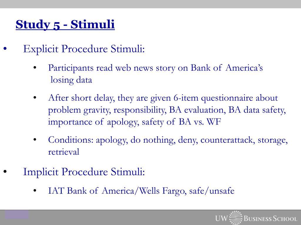 Study 5 - Stimuli