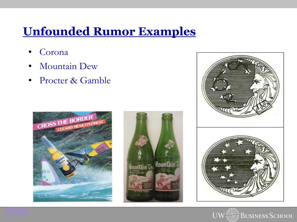 Unfounded Rumor Examples