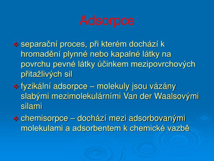 Adsorpce