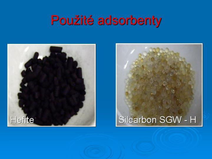Použité adsorbenty