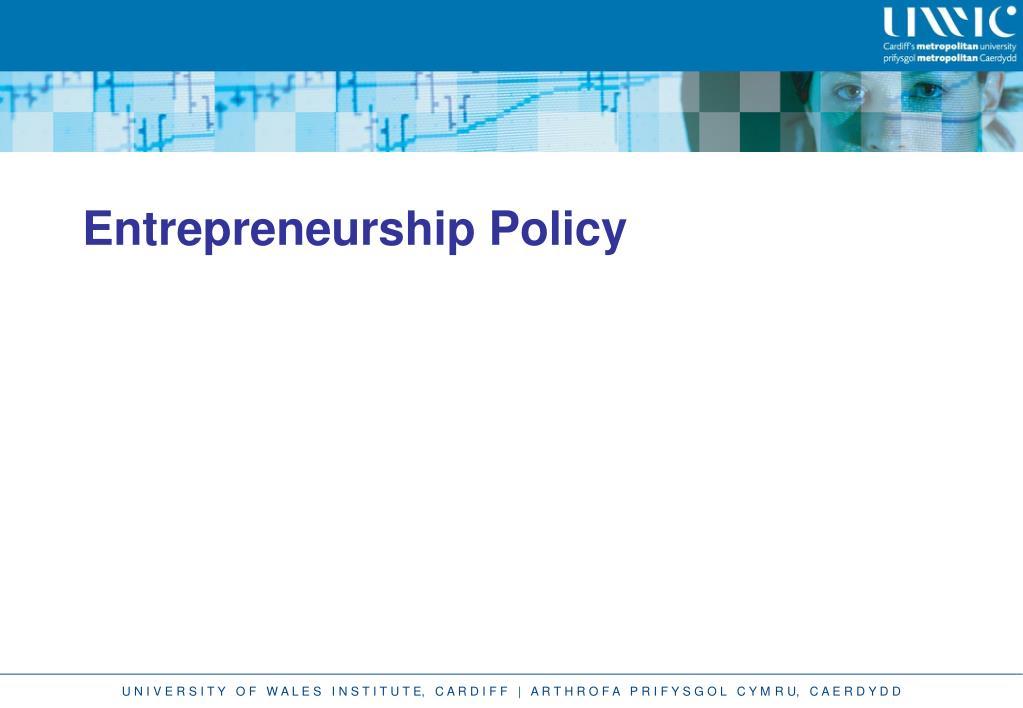 Entrepreneurship Policy