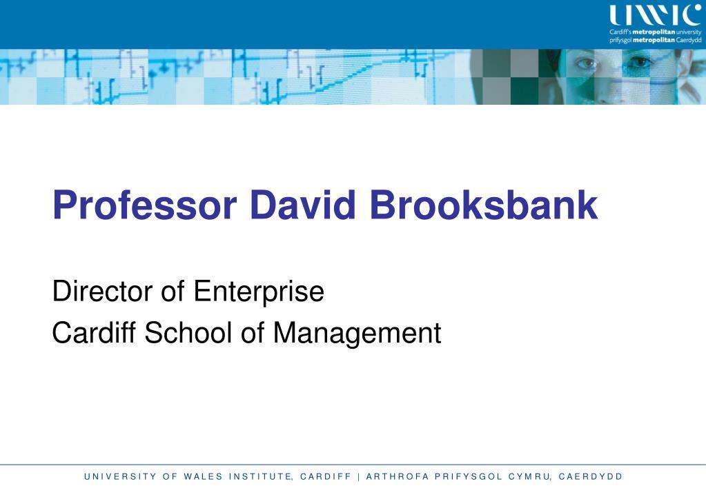 Professor David Brooksbank