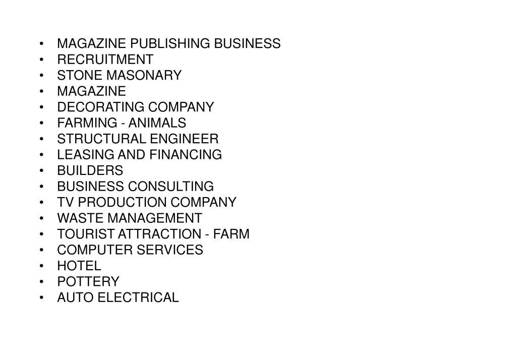 MAGAZINE PUBLISHING BUSINESS
