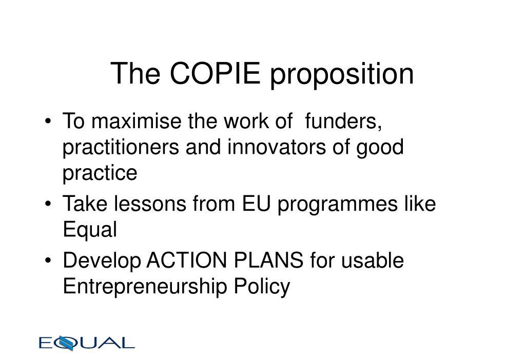 The COPIE proposition
