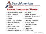 parent company clients