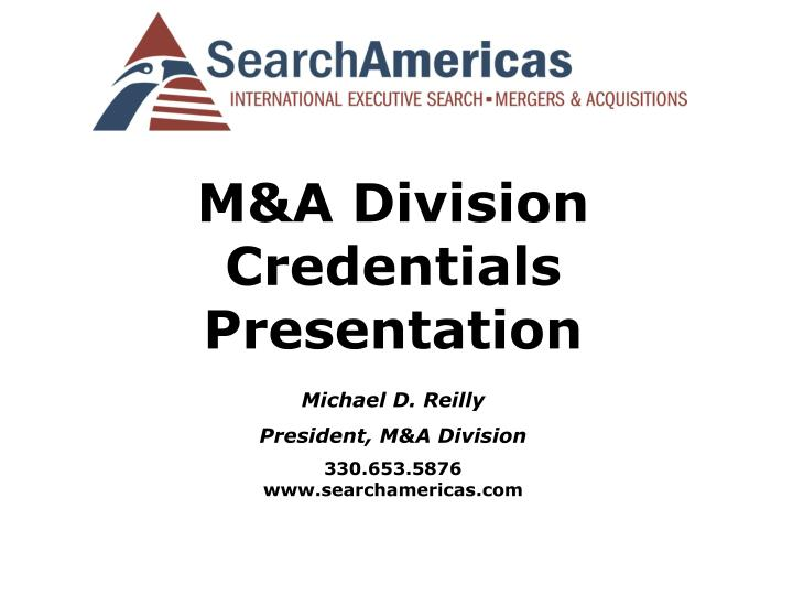 M&A Division