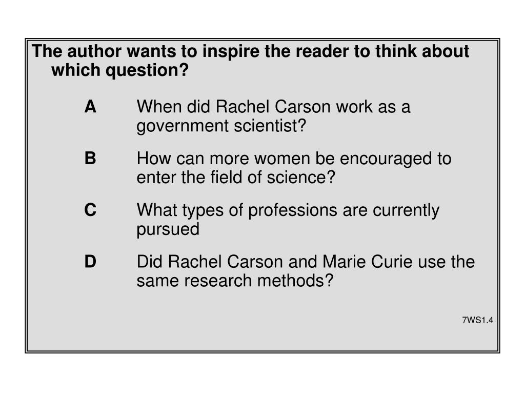 The author wants to inspire the reader to think about which question?