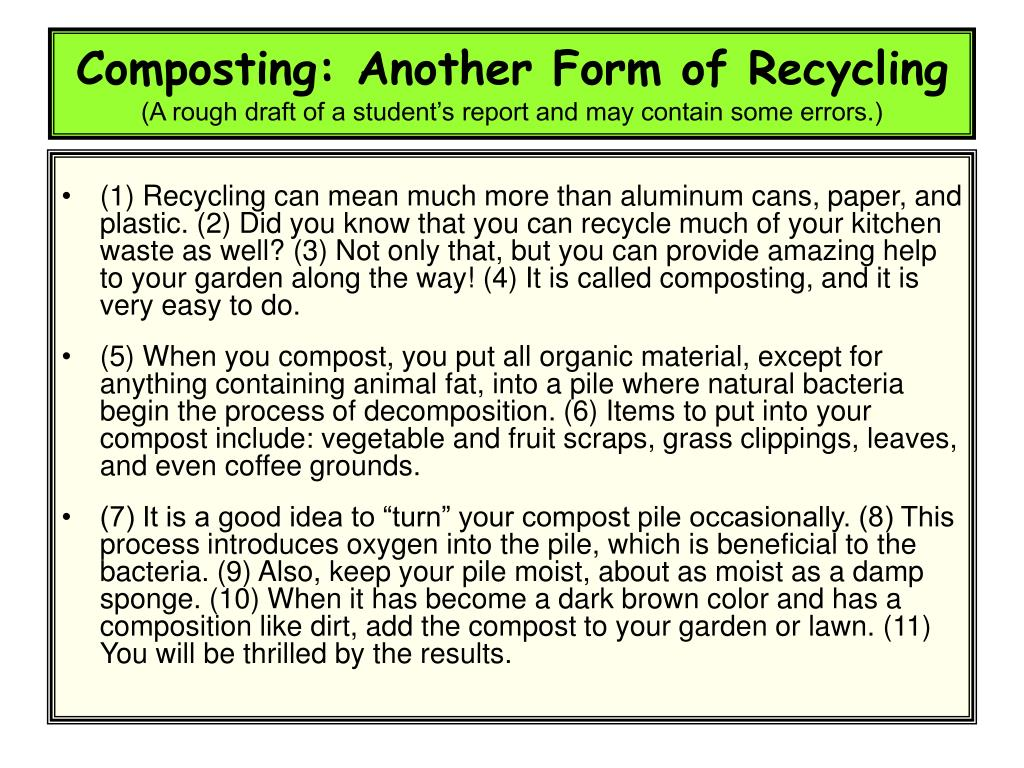 Composting: Another Form of Recycling